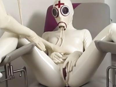 Latex pissing lesbians HD