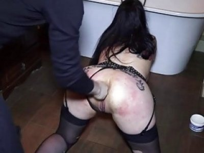 Weird fetish girl gets a her asshole drilled very hard