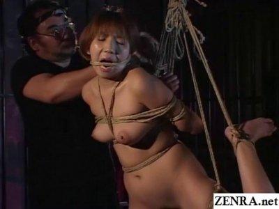 Traditional JAV shibari rope binding schoolgirl