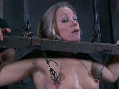 Dia Zerva getting her nipples pined and body poked