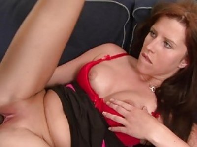 Hot Redhead takes Morgan Blanchette big black dick