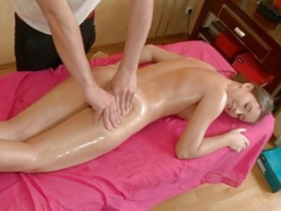 Juvenile masseur is working hard to joy hotty