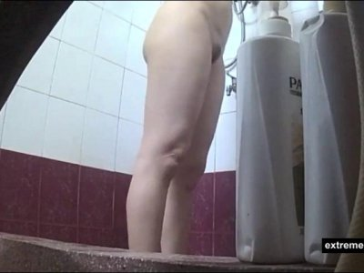 showering Asian Mom on spy camera