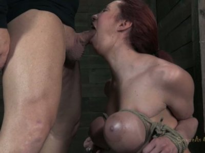 Curvaceous whore Kelly Divine has her tits tied hard
