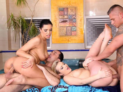 Small orgy after workout