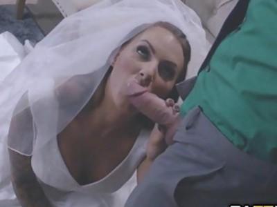 Sleazy salesman Johny fucks every bride to be