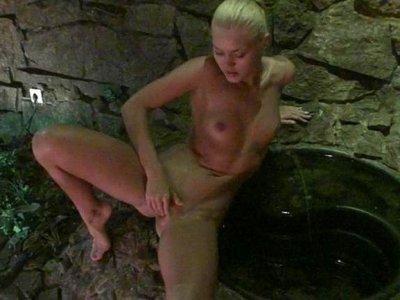Amateurs nude in the sauna